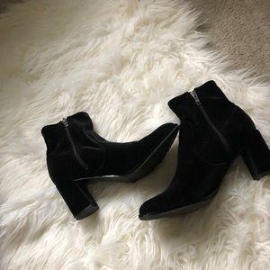 Marc Fisher velvet booties